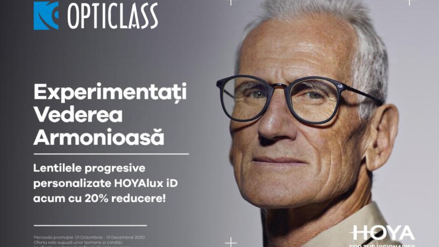 Lentilele progresive personalizate HOYAlux iD PAL au acum o REDUCERE de 20%